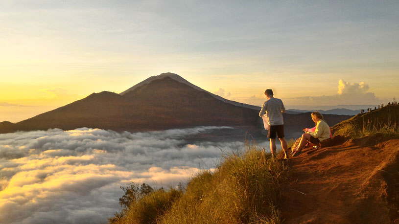 Mount Batur Sunrise Trekking White Water rafting, Mount Batur Trekking and White Water rafting, combine mount Batur trekking, combine trekking package.