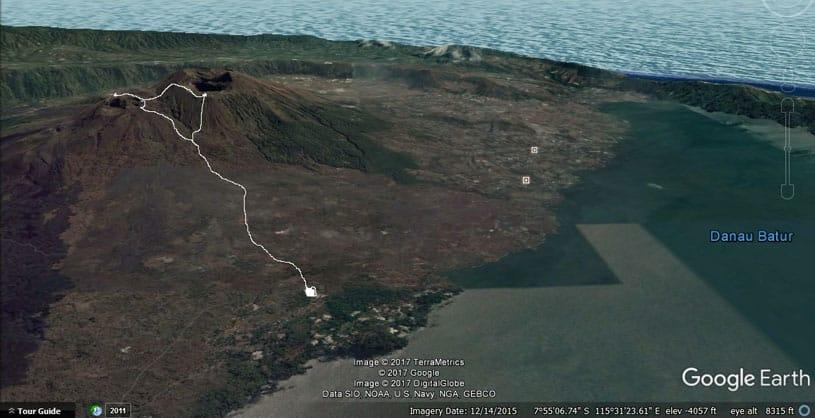 Mount Batur Trekking route
