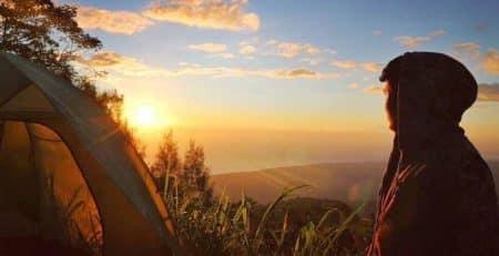 Batur caldera camping
