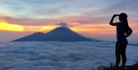 Know Mount Batur as the mother of Mount Agung