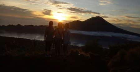 charm sunrise of mount Batur Bali.